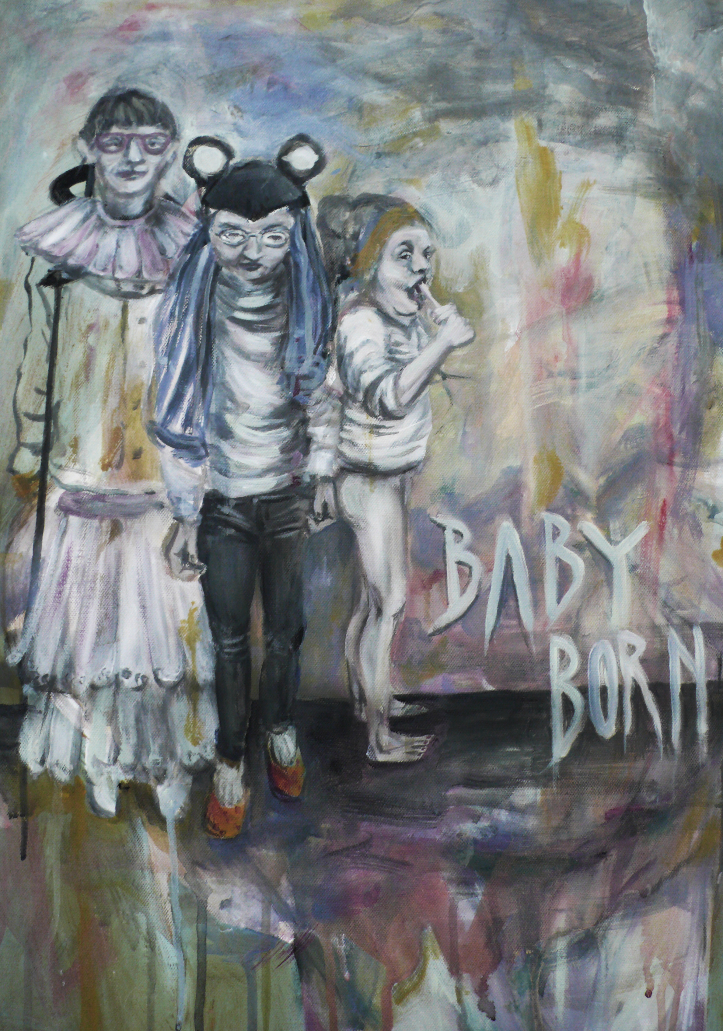 Baby Born, Acrylic on Canvas, 70x50cm, 2015