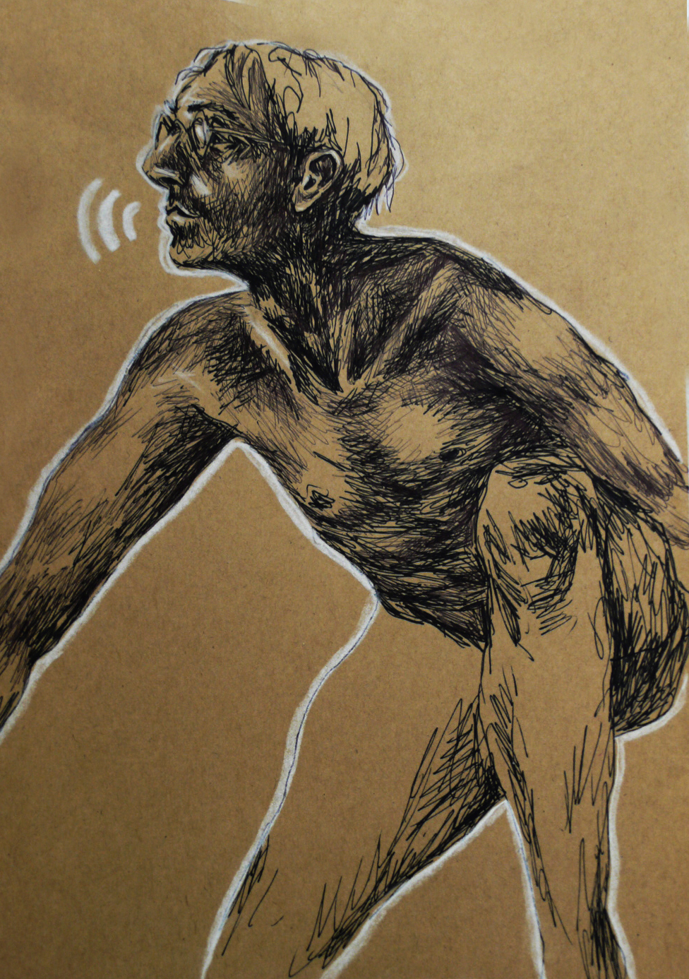 Fineliner on brown Paper, 2015