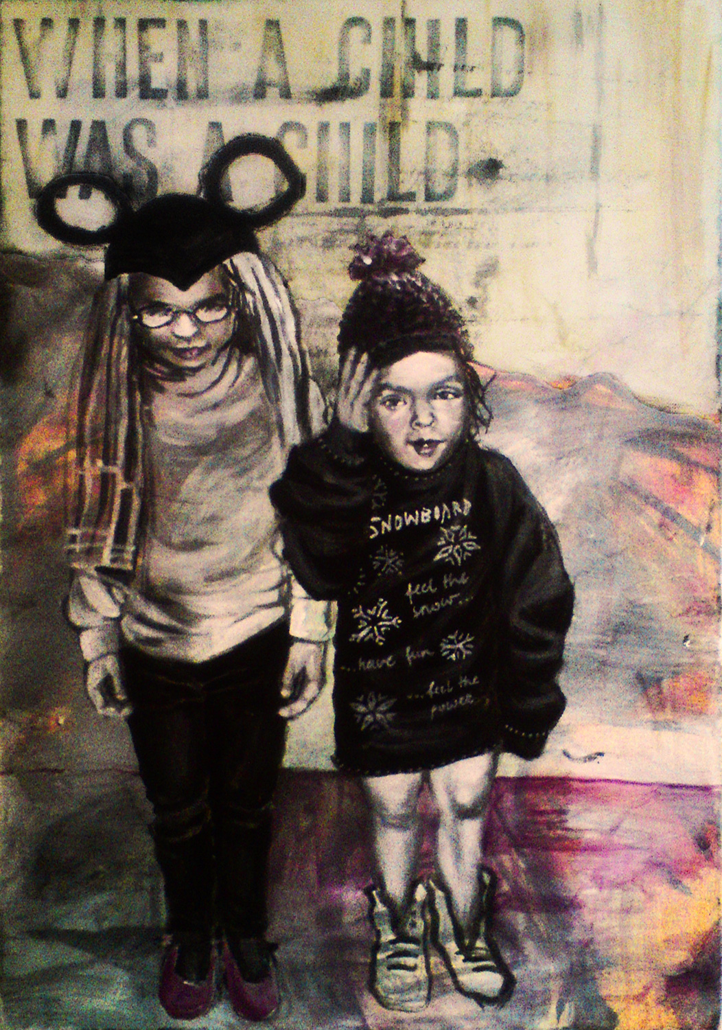 when a child was a child, Acrylic on Canvas, 60x40cm, 2015