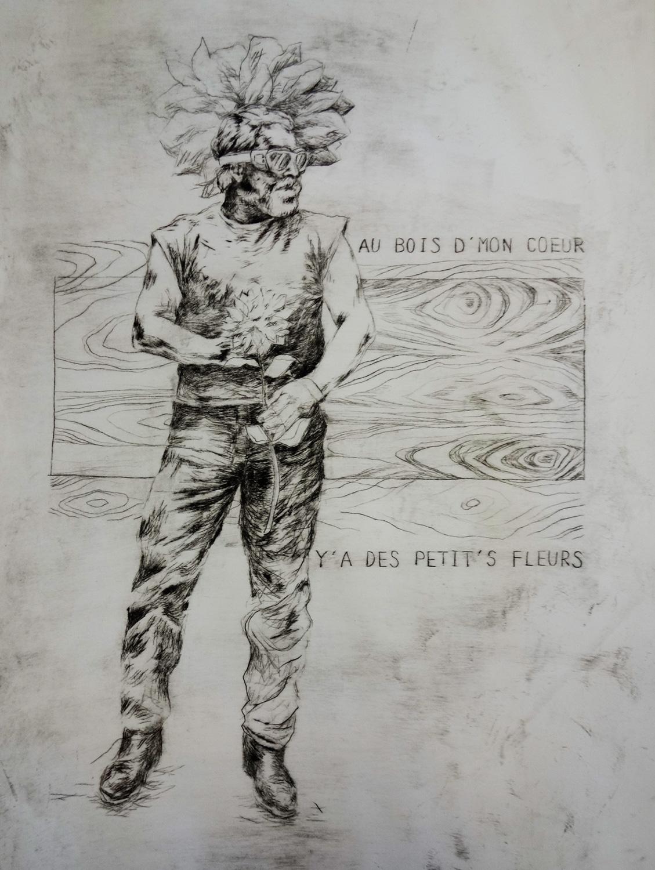 Etching, 29 x 42 cm, 2017